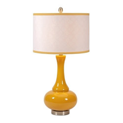 IMAX CORPORATION - Essentials Mellow Yellow Glass Table Lamp - Essentials Mellow Yellow Glass Table Lamp. Find home furnishings, decor, and accessories from Posh Urban Furnishings. Beautiful, stylish furniture and decor that will brighten your home instantly. Shop modern, traditional, vintage, and world designs.