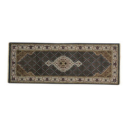 1800-Get-A-Rug - Runner Oriental Rug 250 kpsi Handmade Tabriz Mahi Wool and Silk Sh19810 - Our fine Oriental hand knotted rug collection consists of 100% genuine, hand-knotted and hand-woven rugs from Persia, China, and other areas throughout Asia. Classic, traditional, and offered in a wide range of elaborate designs, every handmade rug is guaranteed to serve as a beautiful and striking element in any interior setting.