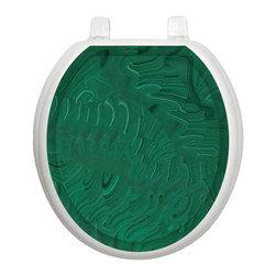 Malachite Toilet Tattoo - Glam up your toilet with this malachite toilet seat applique.