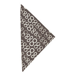 """Pine Cone Hill - PCH Infinity Charcoal Napkins Set of 4 - Casual yet chic, the Infinity cloth napkins from PCH function durably with style in mind. These modern table linens boast an iconic figure-eight pattern in charcoal gray and white. 22""""W x 22""""H; Set of 4; 50% cotton/50% linen; Designed by Pine Cone Hill, an Annie Selke company; Machine wash cold, tumble dry low; Do not bleach"""