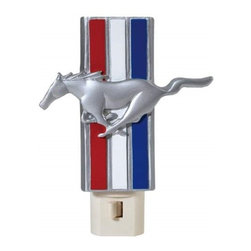 Westland - 5.5 Inch Ford Mustang Pony Nightlight with Red, White, and Red Stripes - This gorgeous 5.5 Inch Ford Mustang Pony Nightlight with Red, White, and Red Stripes has the finest details and highest quality you will find anywhere! 5.5 Inch Ford Mustang Pony Nightlight with Red, White, and Red Stripes is truly remarkable.