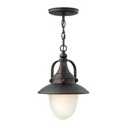 Hinkley Lighting - Hinkley Lighting 2082SB Pembrook Transitional Outdoor Pendant Light - Pembrook is a classic, all-American style traditional hanging wall lantern. The solid aluminum construction features cast ball knob detailing while the acorn shaped glass make it ideal for Energy Saving and LED conversions.