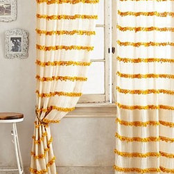 """Anthropologie - Swing Stripes Curtain - Tunnel tab constructionCotton, polyester, nylonDry clean50""""WImported"""