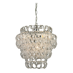 Sterling Industries - Torvean 3 Light Clear Hooked Ring Pendant - Torvean -3 Light Clear Hooked Ring Pendant