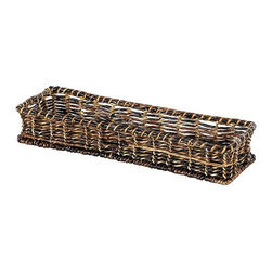 Eco Displayware - Bread Abaca Basket in Espresso - Great for closet, bath, pantry, office or toy and game storage. Earth friendly. 20.5 in. L x 6.25 in. W x 3.75 in. H (1.75 lbs.)These natural colored baskets add warmth and charm and keep you organized.