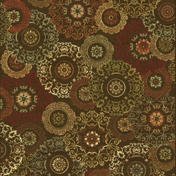 """KAS - KAS Versailles 8558 (Mocha Suzani) 7'10"""" x 11'2"""" Rug - This Machine Loomed rug would make a great addition to any room in the house. The plush feel and durability of this rug will make it a must for your home. Free Shipping - Quick Delivery - Satisfaction Guaranteed"""