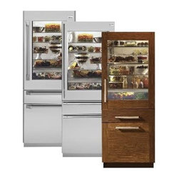"""GE Monogram 30"""" fully integrated refrigerator and freezer - The 30"""" fully integrated refrigerator, ZIK30GNZII, from GE Monogram features a convertible lower drawer and freezer drawer with electronic ice maker. It is panel ready, and can accept custom panels to integrate seamlessly with the kitchen cabinetry."""