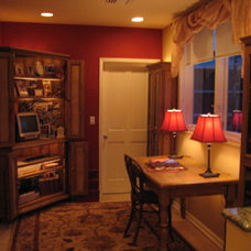 Traditional Home Office Home office for Mom