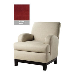 Home Decorators Collection - Custom Kenter Club Chair - With its classic club chair shape and multiple fabric options, the Kenter Club Chair will fit just about any type of living room decor. Perfect for transitional design styles, this arm chair strikes just the right balance between customization and affordability. Legs in espresso finish. Made to order in the USA and delivered in approximately 8-10 weeks.