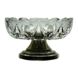Lavish Shoestring - Consigned Cut Glass Serving Stem Bowl, Vintage English - This is a vintage one-of-a-kind item.