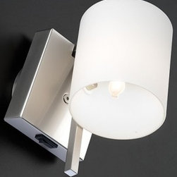 "Studio Italia Design - Minimania 2P Wall Sconce / Ceiling Light - Product Details:     The Minimania 2P Wall Sconce / Ceiling Light from Studio Italia Design is designed by Arch. Alberto Gherardi. This fixture is adjustable, and available in a white, satin nickel or a chrome finish with a choice of a red, amber , satin milk white or caramel brown glass diffuser. ETL Listed.  Details:                                Manufacturer:                            Studio Italia Design                                                            Designer:                            Arch. Alberto Gherardi - 1998 to 2010                                                Made in:                            Italy                                                Dimensions:                            Height: 3.5"" (9cm) X Width: 3.1"" (8cm)                                                              Light bulb:                                          1 x 40W G9 Halogen                                                Material:                            metal, glass"
