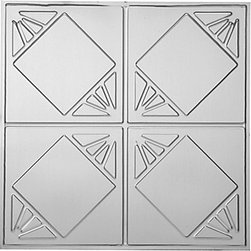 "Decorative Ceiling Tiles - Checkered Past - Aluminum Ceiling Tile - 24""x24"" - #1216 - Find copper, tin, aluminum and more styles of real metal ceiling tiles at affordable prices . We carry a huge selection and are always adding new style to our inventory."