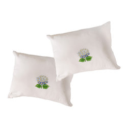 The Designs of Distinction - Boudoir Pillow Cases - These lovely, Fair Trade, hand cross-stitched pillows, finish off a bed of sit on a chair. These are 100% cotton. Machine wash, Machine dry. These are sold in a set of 2 pillow cases. Pillow inset not included.