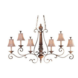 Minka Lavery - Minka Lavery ML 1376 6 Light 1 Tier Chandelier from the Treville Collection - Six Light Single Tier Chandelier from the Treville CollectionFeatures: