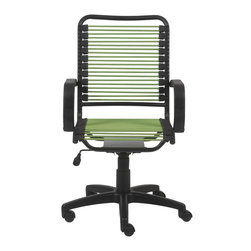 Eurostyle - Bradley Bungie Office Chair-Green/Graphite Black - Extra strong bungie cord loops