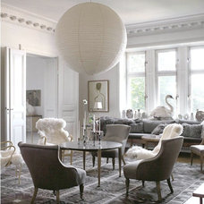 Large light fixture : exquisite chairs : area rug : ...