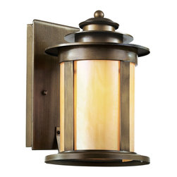 Trans Globe Lighting - Trans Globe Lighting 40211 ABZ Bronzed Transitional Outdoor Wall Sconce - Weather resistant cast aluminum. Antique bronze finish with honey glass. Rectangle wall plate. Vintage outdoor decor for eclectic gardens.