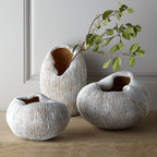 'Urchin' Vase - Organic loveliness! I can already see these urchin vases from Horchow gracing a master bath with spa-like zen.