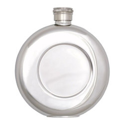 Franmara - Stainless Steel Smooth Chrome Finish Round Pocket Flask, 4.5 Ounce - This gorgeous Stainless Steel Smooth Chrome Finish Round Pocket Flask, 4.5 Ounce has the finest details and highest quality you will find anywhere! Stainless Steel Smooth Chrome Finish Round Pocket Flask, 4.5 Ounce is truly remarkable.