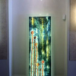 "Abstract wall painting & art glass decor - ""US"""