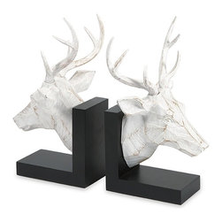 """IMAX CORPORATION - Joseph Deer Bookends - Set of 2 - Joseph Deer Bookends. Set of 2 in various sizes measuring around 11.5""""h x 6.5""""w x 13"""" each. Shop home furnishings, decor, and accessories from Posh Urban Furnishings. Beautiful, stylish furniture and decor that will brighten your home instantly. Shop modern, traditional, vintage, and world designs."""