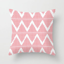 Double Zigzag Pillow Cover in Magenta - This happy pillow cover offers a double shot of the zigzag trend to perk up your morning. With bright, charming color on comfortable poplin, it's sure to make any room feel like summertime!