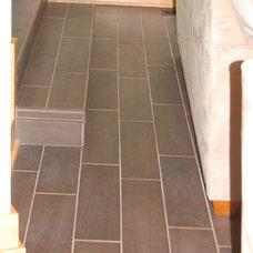 Contemporary Floor Tiles by Morris Builders, Inc