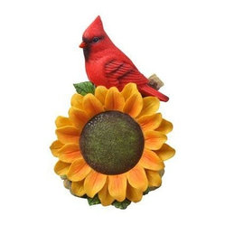 Cardinal With Sunflower