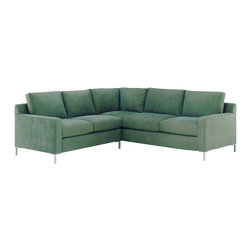 Lazar Industries - Soho Sectional:  Corner Sofa and Adjacent 2-Seater Sofa in Grassland Hawaii - Soho Sectional:  Corner Sofa and Adjacent 2-Seater Sofa:  Lazar's most popular and customizable stlye, the Soho offers modern luxury in a compact package.