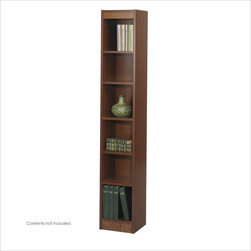 """Safco - Safco WorkSpace 6 Shelf 12""""W Wood Baby Bookcase in Cherry - Safco - Bookcases - 1511CYC - This slim 6-shelf square edge corner bookcase is equally practical for home and office and features five adjustable shelves as well as lower fixed shelf."""