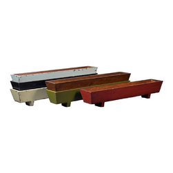 None - Windowsill Planter - Add a touch of the Orient to your home with this Asian-inspired windowsill planter. The planter allows you to grow decorative plants or create your own herb garden near any window. Its handmade wooden construction can easily be converted for storage.