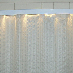 None - Ultimate Shower Rod with White Light Bar - This aluminum-alloy modern shower curtain rod with slight bowing is the ultimate in modern bathroom design,featuring a white light bar for your shower area. Serving double duty as a nightlight,the bar gives off a gentle,non-jarring illumination.
