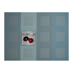 Chilewich - Engineered Squares Placemats Set/4 By Chilewich , Azure - Engineered Squares Placemats Set/4 by Chilewich - Azure