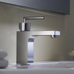 Bathroom Faucets - Chrome Finish One handle Mount Mixer Taps Bathroom Sink Faucet--FaucetSuperDeal.com