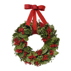 Urban Florals Berry Christmas Wreath - Add a beautiful wreath to your front door to welcome guests.