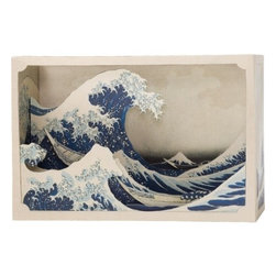 Tatebanko Paper Diorama Kits - This build-it-yourself diorama kit is both a perfect oceanic accent and activity in one. I'd love a few lined up to capitalize on the rolling pattern of the undulating waves.
