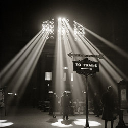 Waiting Room of the Union Station, Chicago Print - Chicago, Illinois. In the waiting room of the Union Station photographed by Jack Delano in January of 1943 for the WPA.