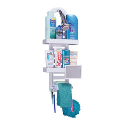Better Living Ulti-Mate Shower Rack White - 70050 - Attractive and versatile. There is a load of storage capacity built into the Ulti-Mate Shower Rack!