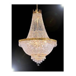 Gallery - Gallery T40-431 French Empire 9 Light 1 Tier Crystal Chandelier - Features: