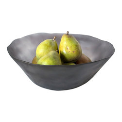 Tina Frey Designs - Marcus Bowl, 14.5 Dia, Grey - Designed by Tina Frey, part of the Tina Frey Designs Tina Frey Home Collection. Hand-finished. Please note: Not suitable for acidic foods or oily dressings. Best for displaying fruit. Hand wash.