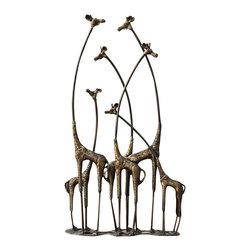 "SPI - Towering Giraffe Herd - -Size: 28.5"" H x 15.5"" W x 5.5"" D"