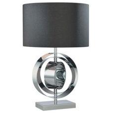 Chrome Circle Black Shade George Kovacs Table Lamp - Euro Style Lighting