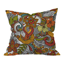 "DENY Designs - Valentina Ramos Ava Throw Pillow, 18x18x5 - A swirling, spicy botanical print in warm desert colors may just be the secret ingredient you need to give your decor recipe some ""wow."" Valentina Ramos' contemporary floral print incorporates Eastern design influences for some exotic heat."