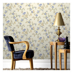 Graham & Brown - Rose Cottage Wallpaper - Classical rose cottage wallpaper - this small scale climbing rose wallpaper compliments the other floral papers in this collection and also compliments the colours which have been put to gether the cream, blue, yellow will add a soft side to you but will also add the relaxing feel to your home.