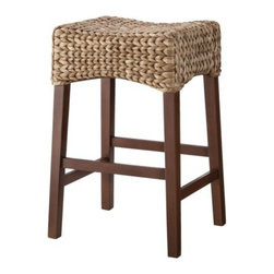 Andres Saddle Bar Stool, Brown - The Andres saddle bar stool is very similar to the stools I have in the kitchen — but mine were a find from Marshalls.
