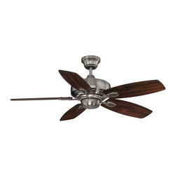 "Savoy House - The Wind Star 42"" Ceiling Fan - This eye-catching fan has sleek details that add the finishing touch to all of today's interiors. The lustrous Brushed Pewter finish is elegant and perfectly complemented by Hickory blades."