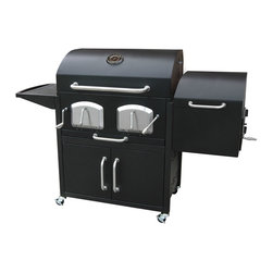 Landmann - Bravo Premium Charcoal Grill with Offset Smoker - -Large grilling capacity