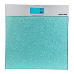 Kalorik - Modern Digital Scale - The simulated water drops on this bathroom scale evoke the feeling of being at the spa. And the easy-to-read LCD screen make weigh-ins as quick and painless as possible.