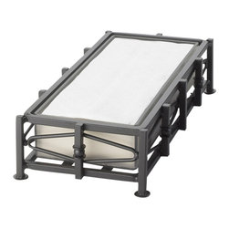 Cal Mil - 10W x 5D x 2.5H Iron Napkin Holder 1 Ct - This napkin holder is a great way to display napkins with a modern twist. It goes perfectly on any buffet table for a party or catering event featuring a bold black frame that will enhance any food presentation.