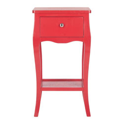 Safavieh - Thelma End Table - Hot Red - Thelma End Table Red